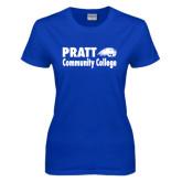 Ladies Royal T Shirt-Pratt Community College w/ Beaver Head