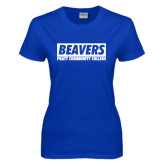 Ladies Royal T Shirt-Pratt Community College Beavers