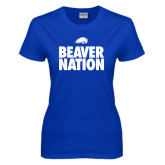 Ladies Royal T Shirt-Beaver Nation