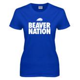 Ladies Royal T Shirt-Beaver Nation