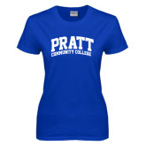 Ladies Royal T Shirt-Arched Pratt Community College