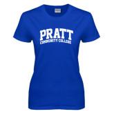 Ladies Royal T Shirt-Arched Pratt Community College