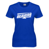 Ladies Royal T Shirt-Slanted Pratt Community College Beavers