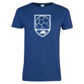 Ladies Royal T Shirt-Soccer Shield w/ Logo