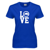 Ladies Royal T Shirt-LOVE