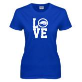 Ladies Royal T Shirt-LOVE