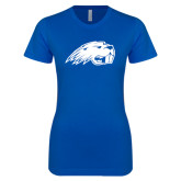 Next Level Ladies SoftStyle Junior Fitted Royal Tee-Beaver Head