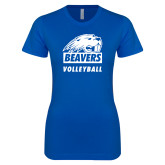 Next Level Ladies SoftStyle Junior Fitted Royal Tee-Volleyball