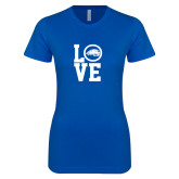 Next Level Ladies SoftStyle Junior Fitted Royal Tee-LOVE