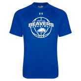 Under Armour Royal Tech Tee-Arched Pratt CC Beavers w/ Ball