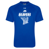 Under Armour Royal Tech Tee-Pratt CC Beavers Basketball w/ Hanging Net