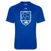 Under Armour Royal Tech Tee-Soccer Shield w/ Logo