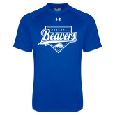 Under Armour Royal Tech Tee-Beavers Baseball Script w/ Plate