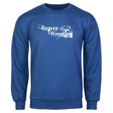 Royal Fleece Crew-Beaver Wrestling Distressed