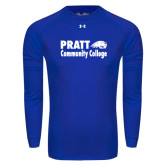 Under Armour Royal Long Sleeve Tech Tee-Pratt Community College w/ Beaver Head