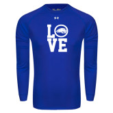 Under Armour Royal Long Sleeve Tech Tee-LOVE