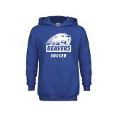 Youth Royal Fleece Hoodie-Soccer