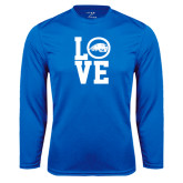 Performance Royal Longsleeve Shirt-LOVE