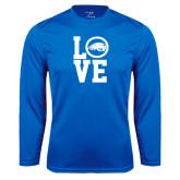 Syntrel Performance Royal Longsleeve Shirt-LOVE