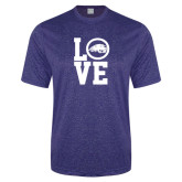 Performance Royal Heather Contender Tee-LOVE