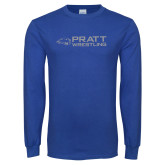 Royal Long Sleeve T Shirt-Pratt Wrestling w/ Beaver