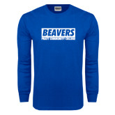 Royal Long Sleeve T Shirt-Pratt Community College Beavers