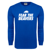 Royal Long Sleeve T Shirt-Fear The Beavers