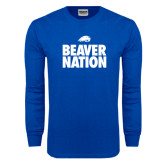 Royal Long Sleeve T Shirt-Beaver Nation
