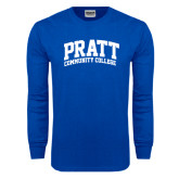 Royal Long Sleeve T Shirt-Arched Pratt Community College