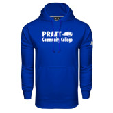 Under Armour Royal Performance Sweats Team Hoodie-Pratt Community College w/ Beaver Head