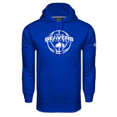Under Armour Royal Performance Sweats Team Hoodie-Arched Pratt CC Beavers w/ Ball