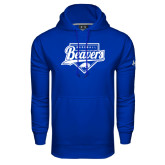 Under Armour Royal Performance Sweats Team Hoodie-Beavers Baseball Script w/ Plate