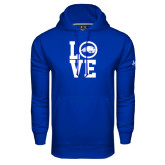 Under Armour Royal Performance Sweats Team Hoodie-LOVE