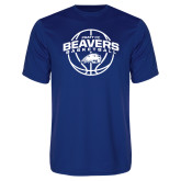 Performance Royal Tee-Arched Pratt CC Beavers w/ Ball