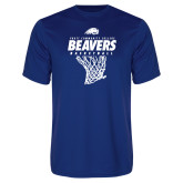 Performance Royal Tee-Pratt CC Beavers Basketball w/ Hanging Net