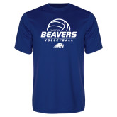 Performance Royal Tee-Pratt CC Beavers Volleyball Stacked