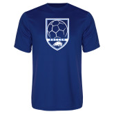 Performance Royal Tee-Soccer Shield w/ Logo