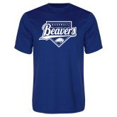 Performance Royal Tee-Beavers Baseball Script w/ Plate