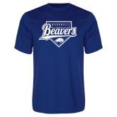 Syntrel Performance Royal Tee-Beavers Baseball Script w/ Plate