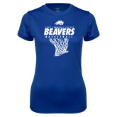 Ladies Syntrel Performance Royal Tee-Pratt CC Beavers Basketball w/ Hanging Net