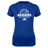 Ladies Syntrel Performance Royal Tee-Pratt CC Beavers Volleyball Stacked