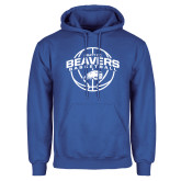 Royal Fleece Hoodie-Arched Pratt CC Beavers w/ Ball