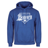 Royal Fleece Hood-Beavers Baseball Script w/ Plate