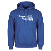 Royal Fleece Hoodie-Beaver Wrestling Distressed
