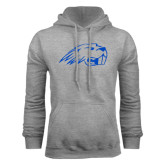 Grey Fleece Hoodie-Beaver Head