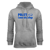 Grey Fleece Hoodie-Pratt Community College w/ Beaver Head