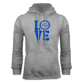 Grey Fleece Hoodie-LOVE