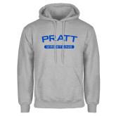 Grey Fleece Hoodie-Arched Pratt Wrestling