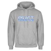 Grey Fleece Hoodie-Pratt Wrestling