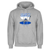 Grey Fleece Hoodie-Beaver Wresting USA